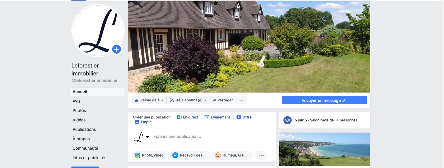 Facebook Leforestier Immobilier